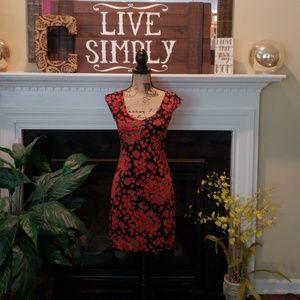 Xhilaration red rose flower dress